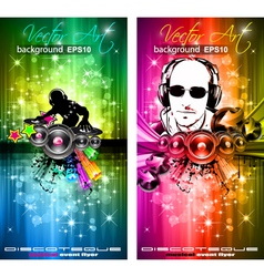 disco flyer vector image