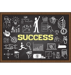 Success on chalkboard vector