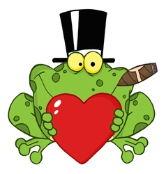 Frog with a hat vector