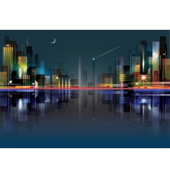 City landscape at night vector image