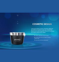 advertising poster of a moisturizing cosmetic vector image vector image