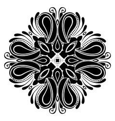 Beautiful deco black square vector