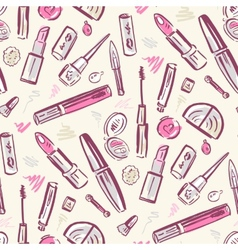 Beauty products Cosmetics vector image