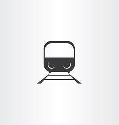 black train icon vector image vector image