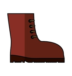 Boots safety isolated icon vector
