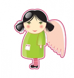 cartoon angel vector image