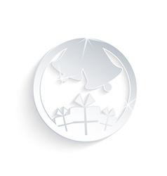 Christmas ball ornament with gift box vector image vector image