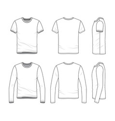 clothing set of male shirt and tee vector image vector image