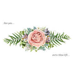 floral bouquet design garden pink peach lavender vector image vector image