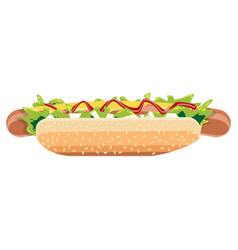 Hot dog vector