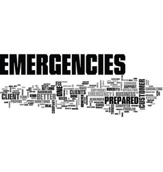 It emergencies be prepared text background word vector