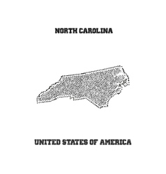 Label with map of north carolina vector