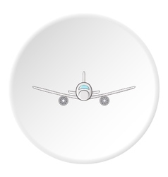 Plane icon flat style vector