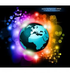 rainbow earth future vector image vector image