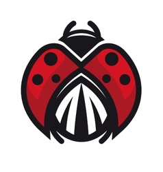 Red and black ladybug or ladybird vector image
