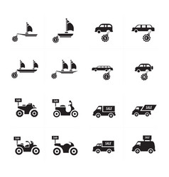 sale vehicle set vector image