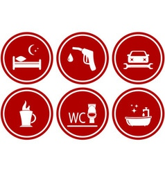set icons for services during travel vector image