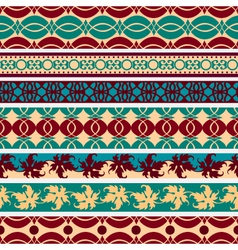 set of vintage borders vector image