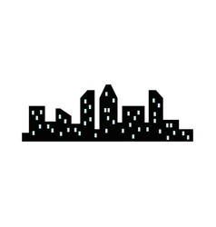 silhouette city skyline buildings architecture vector image vector image