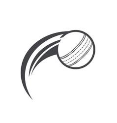 swoosh cricket ball logo icon vector image vector image
