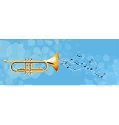The golden trumpet vector image vector image