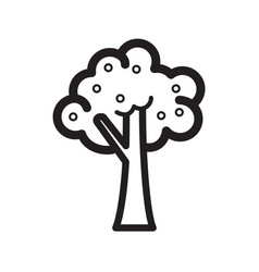 Thin line tree icon vector