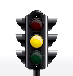 TRAFFIC light yellow vector image