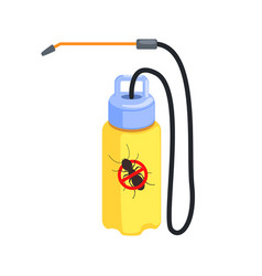 yellow pressure sprayer for destruction of vector image vector image