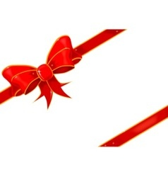 Parcel bow vector