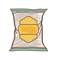 Isolated sugar bag design vector