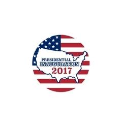 Presidential inauguration 2017 icon vector