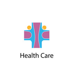 Medical cross amp people iconmedical center vector