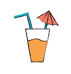 delicious refreshment glash to refresh the day vector image