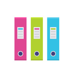 Ring binder in a row set icon vector