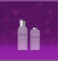 shampoo and spray bottles vector image