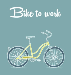 Retro poster with bicycle vector