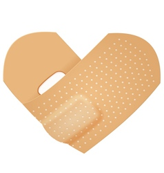 First aid band folded heart vector