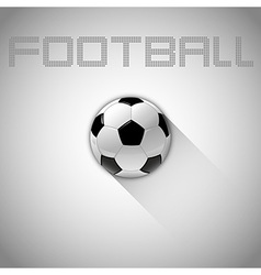 football long shadow vector image