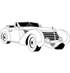 Old vintage car vector