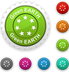Green earth award vector