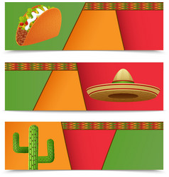 Mexican banners horizontal vector