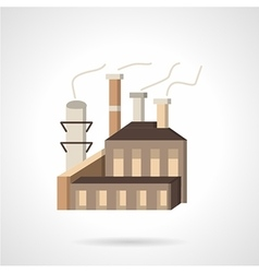 Wood processing factory flat icon vector