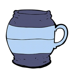 Comic cartoon big mug vector