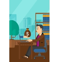 Businessman working in office vector