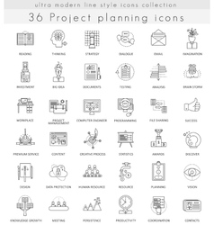 Project planning strategy ultra modern vector