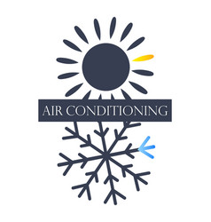 Air conditioning and ventilation symbol vector