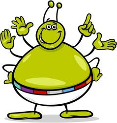 Alien character cartoon vector