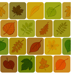 Autumn leaves seamless background vector