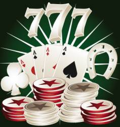 Casino poker elements vector