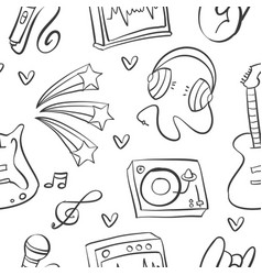 Doodle musical instrument art vector